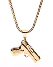 Men - Gold Pistol Chain