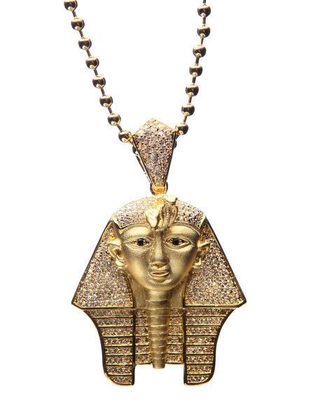 King Ice Men Gold Cz Pharaoh Chain Gold