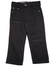 Bottoms - RIP AND REPAIR JEANS W/ BANDANA POCKET (2T-4T)