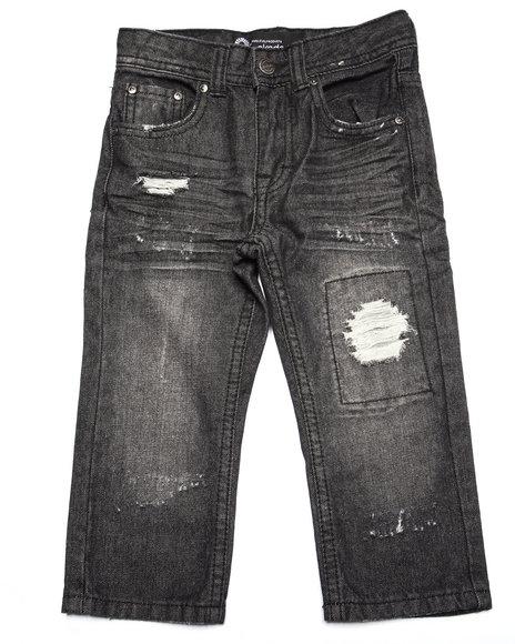 Akademiks - Boys Black Distressed Jeans (2T-4T)