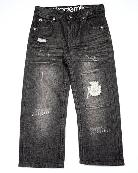 Akademiks - Boys Black Distressed Jeans (4-7)