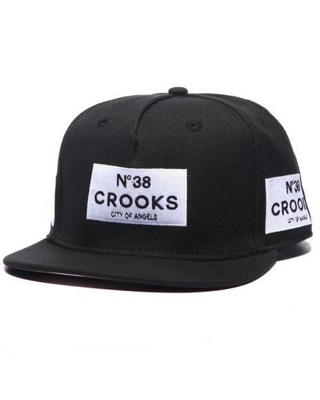 Crooks & Castles Men Box 38 Snapback Black