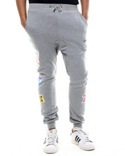 Men - S M W Petrol Fleece Joggers