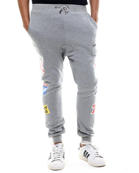Ur-ID 214504 S - M - W - Men Grey S M W Petrol Fleece Joggers