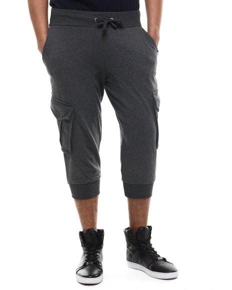 Akademiks - Men Charcoal Broome Cargo Jogger Short