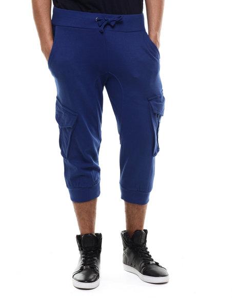 Akademiks - Men Blue Broome Cargo Jogger Short