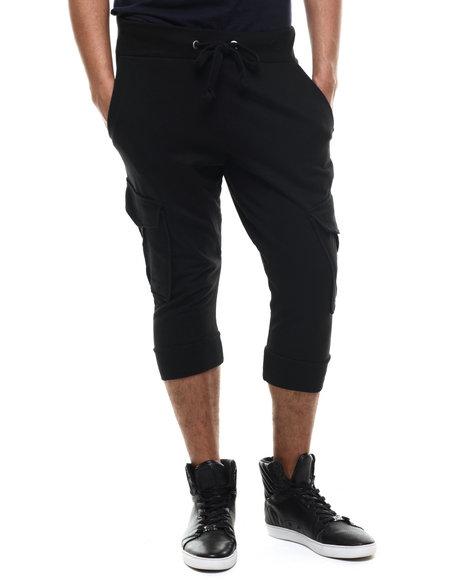 Akademiks - Men Black Broome Cargo Jogger Short
