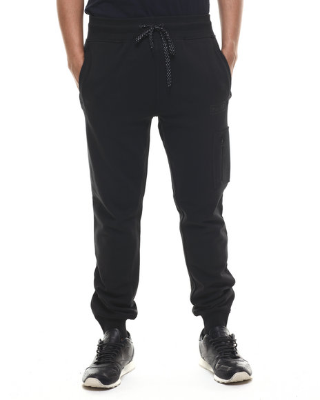 Parish - Men Black Neoprene Sweatpant