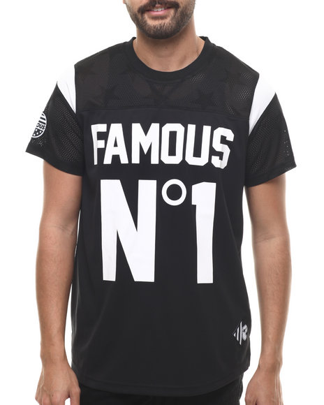 Famous Stars & Straps - Men Black No. 1 Mesh Jersey