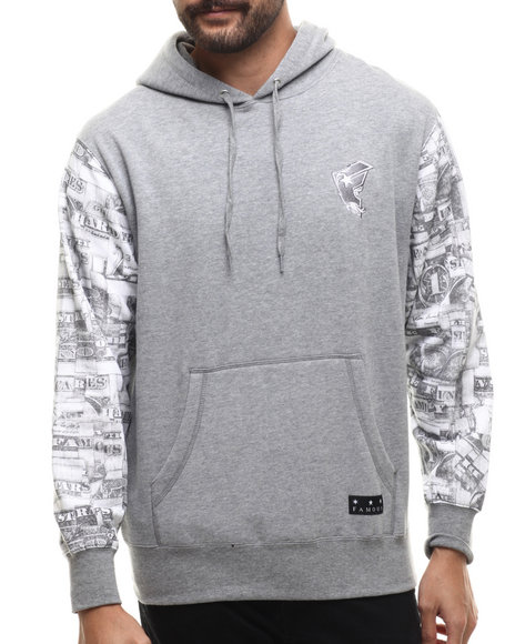 Ur-ID 214520 Famous Stars & Straps - Men Grey Looter Hoody