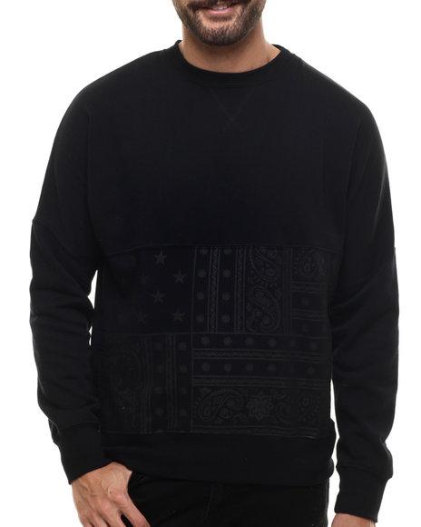 Ur-ID 214521 Famous Stars & Straps - Men Black Archer Crew Sweatshirt