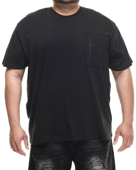 Parish - Men Black Neoprene Pocket T-Shirt (B&T) - $31.99