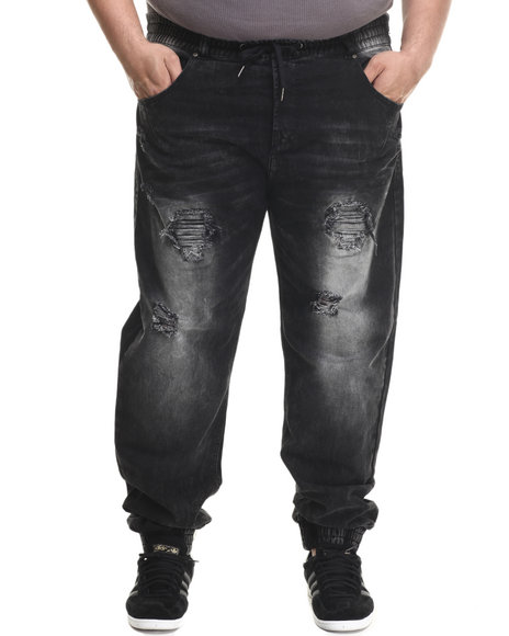 Parish - Men Black Rip Repair Jogger (B&T)
