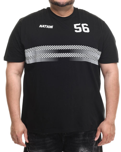 Parish - Men Black Halftone Graphic T-Shirt (B&T) - $25.99