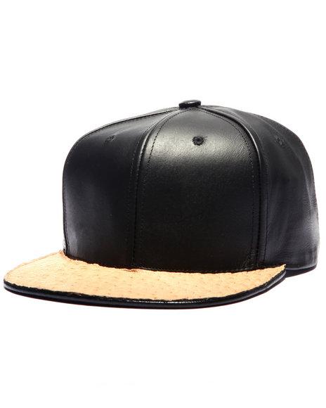 Pradagy Men Pradagy Genuine Ostrich Strapback Hat Beige