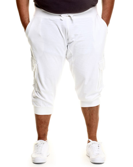 Akademiks - Men White Broome Cargo Jogger Short (B&T)