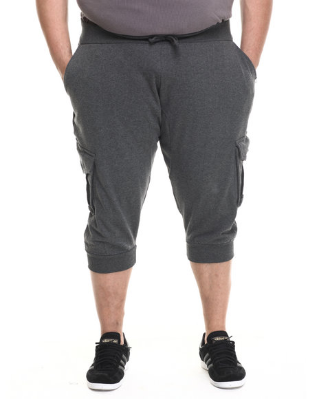 Akademiks - Men Charcoal Broome Cargo Jogger Short (B&T)