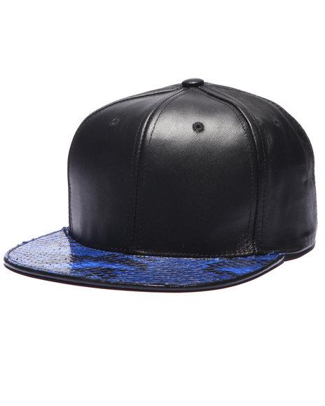 Pradagy - Men Blue Pradagy Genuine Python Strapback Hat - $89.99