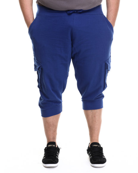 Akademiks - Men Blue Broome Cargo Jogger Short (B&T)