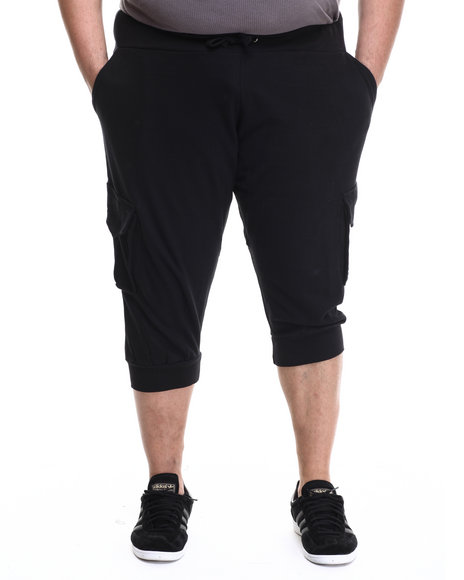 Akademiks - Men Black Broome Cargo Jogger Short (B&T)