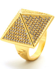 Accessories - 14K Gold CZ Pyramid Ring