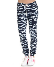 Bottoms - Tiger Acid Print Twill Moto Jogger