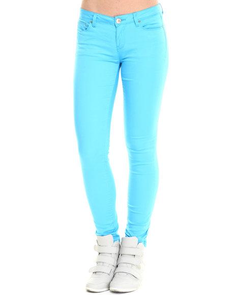 Bianco Jeans - Women Blue Premium Twill Stretch Skinny Jean