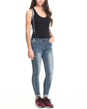 Bianco Jeans - Skinny Boyfriend Jean w/ Removable Suspender