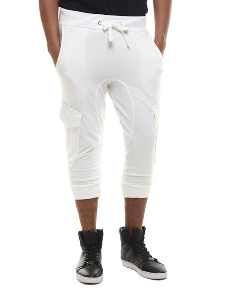 Akademiks - Men White Broome Cargo Jogger Short