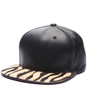 Men - Pradagy Genuine Zebra - Hair Strapback Hat
