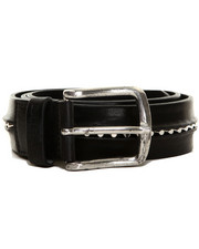 Diesel - BAF Leather Belt with Stud Insert Details