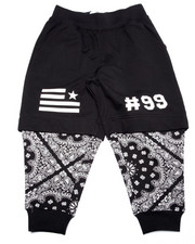 Bottoms - BANDANA LAYERED JOGGERS (4-7)