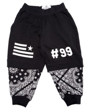 Bottoms - BANDANA LAYERED JOGGERS (2T-4T)
