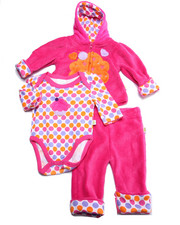 Sets - 3 PC CUPCAKE SHERPA SET (NEWBORN)
