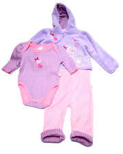 Sets - 3 PC POODLE SHERPA SET (NEWBORN)