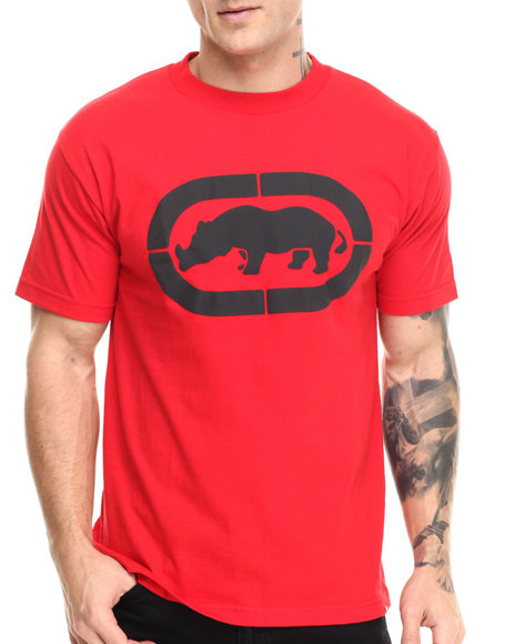 Ecko - Men Red Target Rhino Print T-Shirt