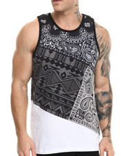 Shirts - Patched Bandana tank top