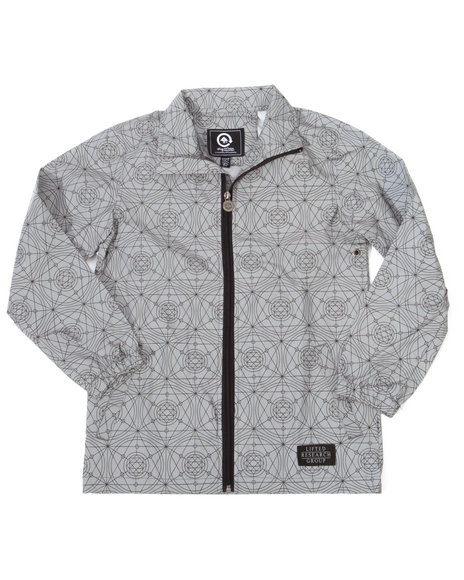 Lrg - Boys Grey Teknitian Reflective Windbreaker (8-20)