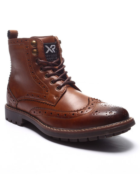 Buyers Picks - Men Brown X - Ray Astor Wing - Tip Boots - $54.99