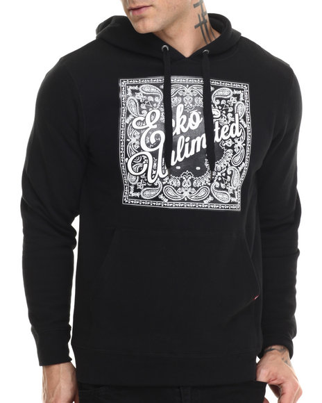 Ecko - Men Black Fleece Pullover