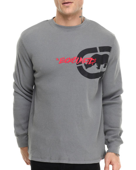 Ecko - Men Grey Vertical Ecko Thermal