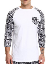 Buyers Picks - Aztec Print Raglan tee