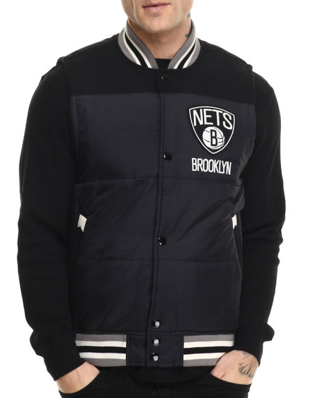 Mitchell & Ness - Men Black Brooklyn Nets Nba Title Holder Vest