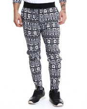 Men - Aztec Print Interlock Drawstring sweatpants