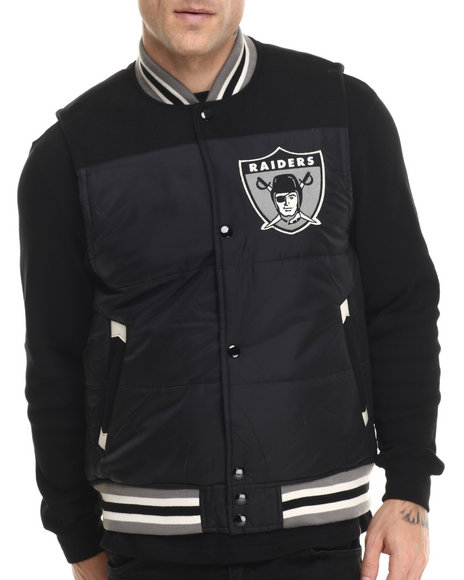 Mitchell & Ness - Men Black Oakland Raiders Nfl Title Holder Vest