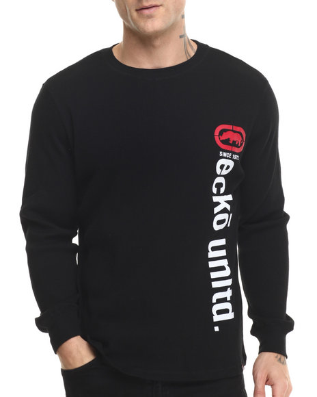 Ecko - Men Black Vertical Ecko Thermal