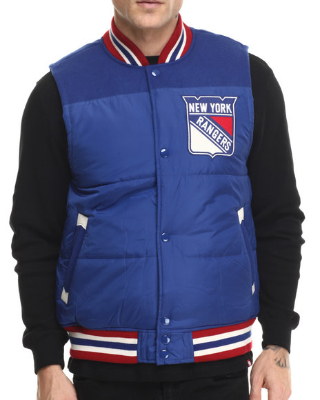 Mitchell & Ness - Men Blue New York Rangers Nhl Title Holder Vest