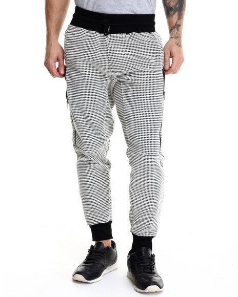 Ur-ID 214580 Kite Club - Men Black Waffle Knit Sweater Jogger Pants