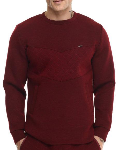 Ur-ID 214589 Kite Club - Men Red World Tour Neoprene Crewneck Sweatshirt