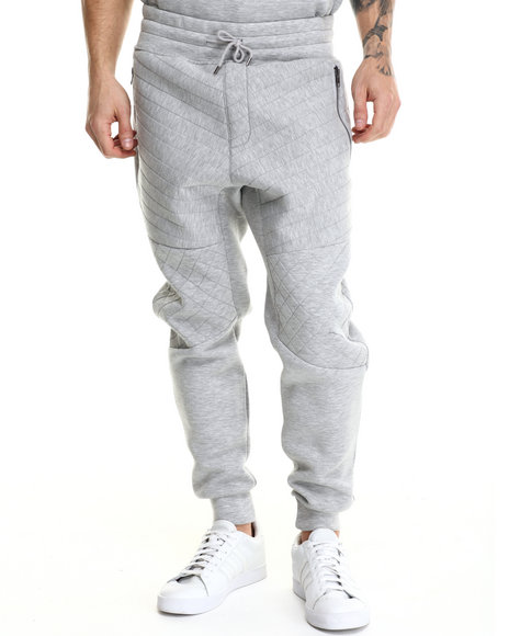 Kite Club - Men Grey World Tour Neoprene Jogger Pants - $73.99